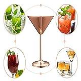 BBYBK Cocktailglas Roségold 304 Edelstahl, Cocktailglas, Fremdes Weinglas, Champagnerglas,...