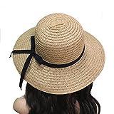 vorcool Floppy Stroh hat Frauen Schleife Breite Krempe Sun Hat Beach Hat