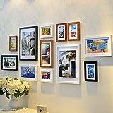 Fotorahmen, dekorative Wände, modern, Holz, 12 Stück, für Wohnzimmer, Schlafzimmer, Sofa,...