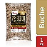 BBQ-Toro Beech Pellets aus 100% Buchenholz (1 kg) | Buchenpellets fr Grill, Smoker, Pellet-Pizzaofen...