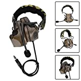 Gaming-Headset, Noise Reduction Game-Kopfhörer, Forest Camouflage Silicone Earmuff, mit doppeltem...
