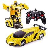 Transformers Toys 2 in 1 Fernbedienung Transformator Auto RC Auto für Kinder Deformation Roboter...