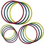 Wiemann Lehrmittel Gymnastikreifen-Set, 4 Stück, flach, bunt, aus Kunststoff (Ø 60 cm)