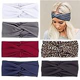 Boho-Stirnbänder für Damen, elastisch, gedrehter Knoten, Haar-Accessoires für Mädchen und...