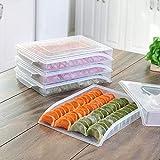 HANGON Transparente Teigtaschenablage für Zuhause, Küche, Organizer für gefrorene Teigtaschenbox,...