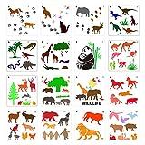 Lamdoo Durable Wild Animal Painting Stencil Kit Kinder Malschablonen Vorlagen DIY...