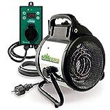 Bio Green Elektrogeblseheizung Palma, 2000 Watt, Digital-Thermostat, IP X4 Spritzwassergeschtzt fr...