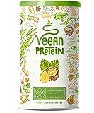 Vegan Protein   HASELNUSS   Pflanzliches Proteinpulver aus Reis, Lupinen, Erbsen, Chia-Samen,...