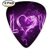 Fashion Classic E-Gitarre Picks Plektren Purple Love Words Instrument