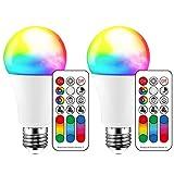 iLC LED E27 Farbwechsel Lampe RGB Birne 10W Warmwei Fernbedienung