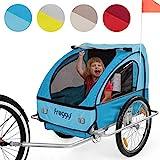 FROGGY Kinder Fahrradanhänger mit Federung + 5-Punkt Sicherheitsgurt Radschutz Anhänger für 1 bis...