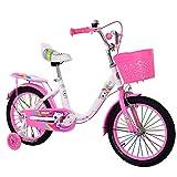 Leikance Fahrrad für Kinder, 40,6 cm (16 Zoll), niedliches Fahrrad mit Glocke und Korb,...