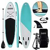 Triclicks SUP Aufblasbares Stand Up Paddle Board Paddling Board Surfboard mit Verstellbares Paddel,...