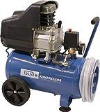Güde 50127 260/10/24 ST Kompressor-Set (2 Manometer, 1 DL-Kupplung, 24l kessel, 10 bar, 7,5m...