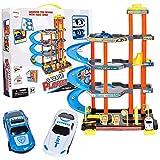 MalPlay Parkplatz Parkhaus mit 2 Spielzeugautos | mit 4 Spielebenen und Zubehör | ab 3 Jahren |...