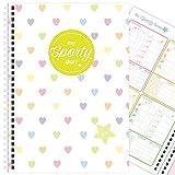 My Sporty Diary (12 Monate) Übungsplaner, Fitnessplaner, Fitness-Tagebuch, handgemacht, A5 (Rainbow...