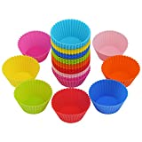 Bäcker & Lecker 40x Muffinformen Silikon Cupcake Wiederverwendbare Muffinförmchen Backform (8...