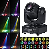 Tomshine Moving Head 30W DMX-512 Mini Disco Licht Party Licht, 9/11 Kanäle, 4 Steuermodus, 540° /...