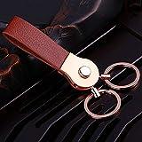 W.Z.H.H.H Schlüsselring doppelte Schleife Hanging Keychain echtes Leder Schlüsselanhänger...