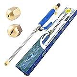 ZoneYan Hydrojet Power Washer, Hochdruck Wasserpistole, Sprühlanze für Gartenschlauch, High...