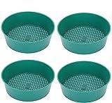 Siebpfanne, Kunststoff, Gartensieb, Sieb, Sukkulenten, Sandstein, Filterwerkzeug, 4 Stück