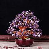 GETSO Ornament Geschenk Kristall Geld-Baum Bonsai-Art-Haus für Reichtum Feng Shui Tischdekoration...