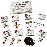 GICO Knobelspiel Klassiker Sets - 8 Geschicklichkeitsspiele in Geschenkverpackung - incl. Lösung...