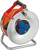 Brennenstuhl Garant S IP44 Kabeltrommel (40m Kabel in orange, Stahlblech, Einsatz im Außenbereich,...