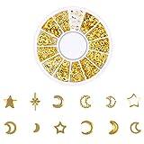 Kapian Ocean Nail Art Ohrstecker Gold Charms Summer Sea Metalllegierung Nieten Shell Starfish Nail...