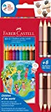 Faber-Castell 201746 - Colour Grip Buntstifte Children of the world, 10 Buntstifte + 3 Stifte mit je...