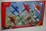 Disney Planes - 7-teiliges Flieger Set Wings Around The Globe - Arturo, Zed, Dusty, Ned, Ishani,...