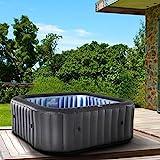 Whirlpool aufblasbar MSpa Tekapo für 6 Personen SPA 185x185cm In-Outdoor Pool 132 Massagedüsen...