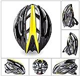Lxhff Fahrradhelm für Mountainbike, integrierte Formausrüstung, silberfarben, gelb