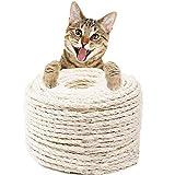 Hogdseirrs Natural Sisal Seil, Mehrzweckseil Sisal, 6mm Katzen Natürlich Sisal Seil, Natürliches...