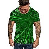 EUZeo_Herren Shirts Herren 3D Druck T Shirt Aufdruck Kurzarm Tops Sommer leicht bequem Hemd Unisex...