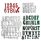 VINFUTUR Stanzschablone Buchstaben und Zahlen, Metall Prägeschablonen Stanzmaschine Stanzformen...
