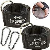C.P. Sports 1 Paar / 2 Stück + Karabinerhaken Hand- und Fußschlaufe Zughilfen Komfort für Fitness...