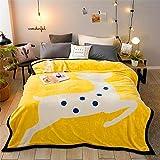 Asbecky Decke Herbst- und Winterdecke/Dicke und warme Doppeldecke Fluffy Throw Blankets Double Size...