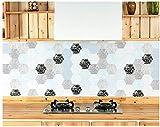 Wandaufkleber,Wandtattoo,Hexagon Brick Oil Stickers Küchentapete Pergamentpapier