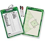 Coaching Board mit Markerstcken Baseball Coach Lineup Brett 2 Seiten ltere trockene Erase...