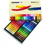 Honsell 47436 - Jaxon Ölpastellkreide, 36er Set im Kartonetui, brillante, lichtechte Farben, ideal...