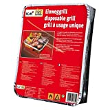 KM Firemaker 2 Packungen Einweggrills mit 450 g Holzkohle und Anzndpapier/Picknick/Grill/Instant...