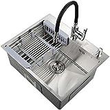 Kitchen Sink. Küchenspüle Abtropfkorb für die Küche, aus Edelstahl, große Kapazität, Tiefe 20...