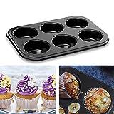 meleg otthon Mini-Muffinform, für 6 Muffins, Standardgröße Antihaftbeschichtet Muffinform (6...