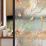 Lifetree Glasmalerei Fensterfolie Sichtschuzfolie Dekorfolie Privatsphäre Milchglasfolie Statisch...