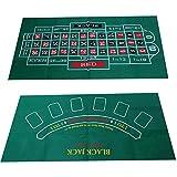 prom-near Poker Tischauflage Doppelseitiges Muster Spieltisch Filz Vliestuch Wasserdicht Tischset...
