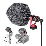 Professionelle Hi-Sensity Hi-Fidelity Mini Shotgun Video Kondensator Mikrofon Externes Mic für DSLR...