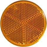 mb-m 904314 10er Set Rückstrahler, Seitenstrahler, Reflektor Rund 60mm gelb zum Kleben mit...