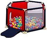 LQBDJPYS Laufstall Baby-Fence 6 Panel Zaun Innenhof freistehend Spielplatz Toy (Color : Red)