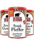 Block House Gewürze zum Grillen Grillset - Zaubergewürz 280g Steak Pfeffer 200g Grüner Knoblauch...